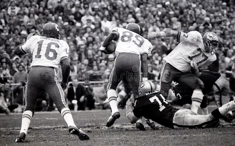Len Dawson #16 e Otis Taylor #89, Kansas City Chiefs foto de stock