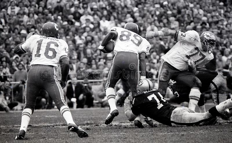Len Dawson #16 en Otis Taylor #89, Kansas City Chiefs stock foto