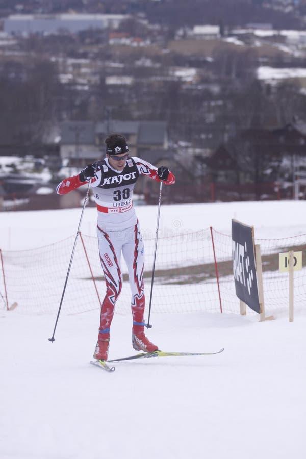 Len Valjas - skieur de pays en travers images libres de droits