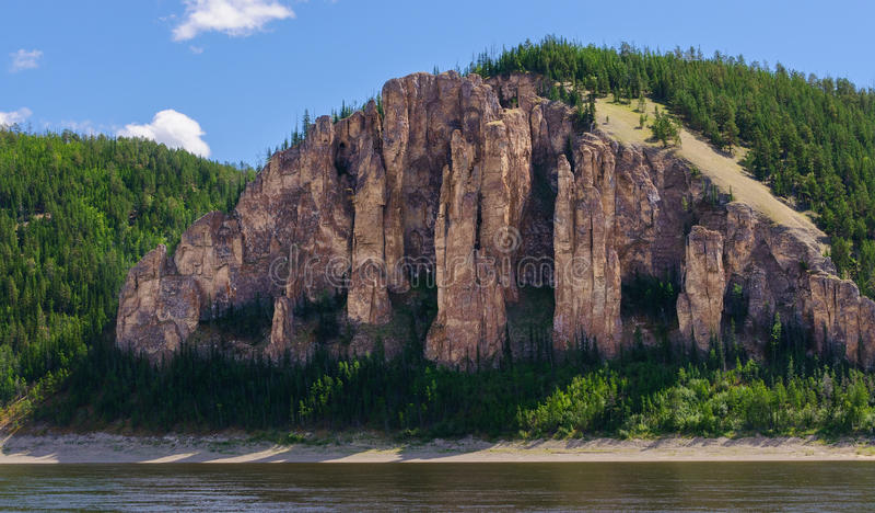 Lena Pillars National Park fotografía de archivo libre de regalías