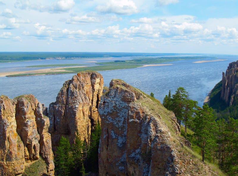 Lena River (Nationalpark lizenzfreies stockfoto