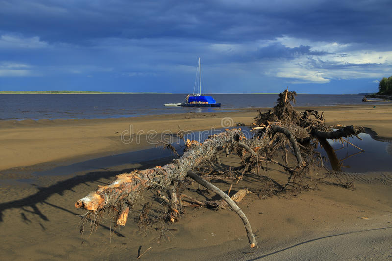 The Lena River. stock images