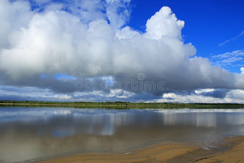 The Lena River. royalty free stock photo