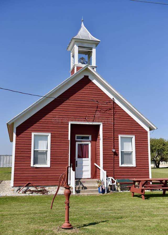 Lena Road Schoolhouse royalty-vrije stock foto's