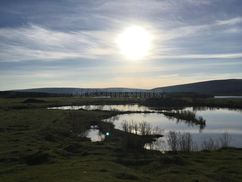 Lena rzeki dolina zdjęcie stock