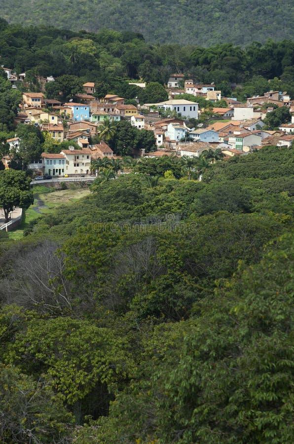 Lencois Bahia Brazil Hillside Village stock fotografie