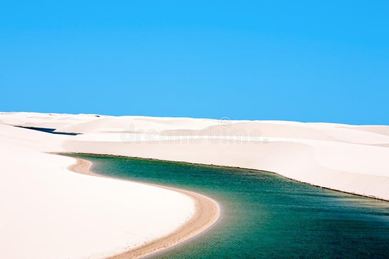Lencois Maranheses国家公园巴西 免版税库存图片