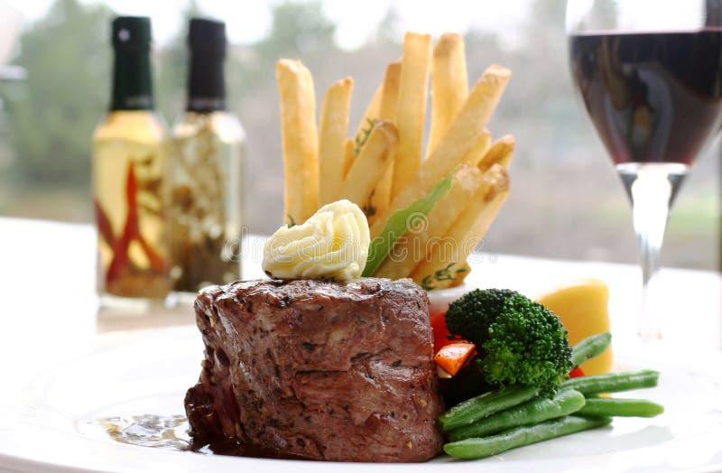 Lendenstück-Steak stockfotos