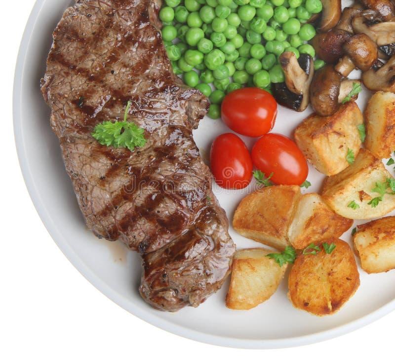 Lendenstück-Steak-Abendessen stockbilder