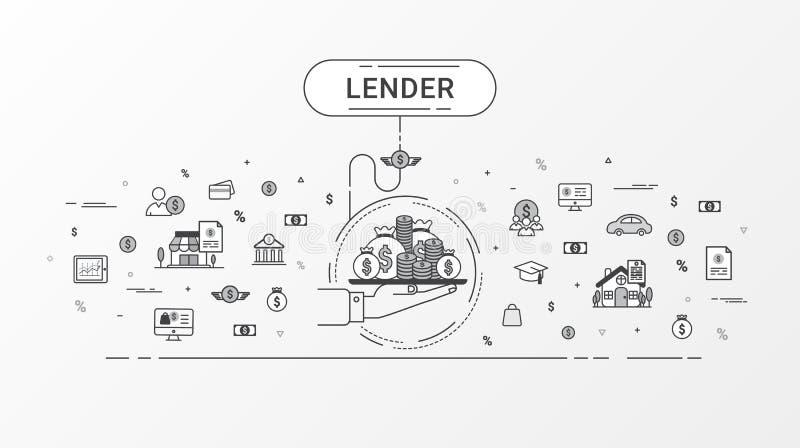 Lender infographics concept. vector illustration