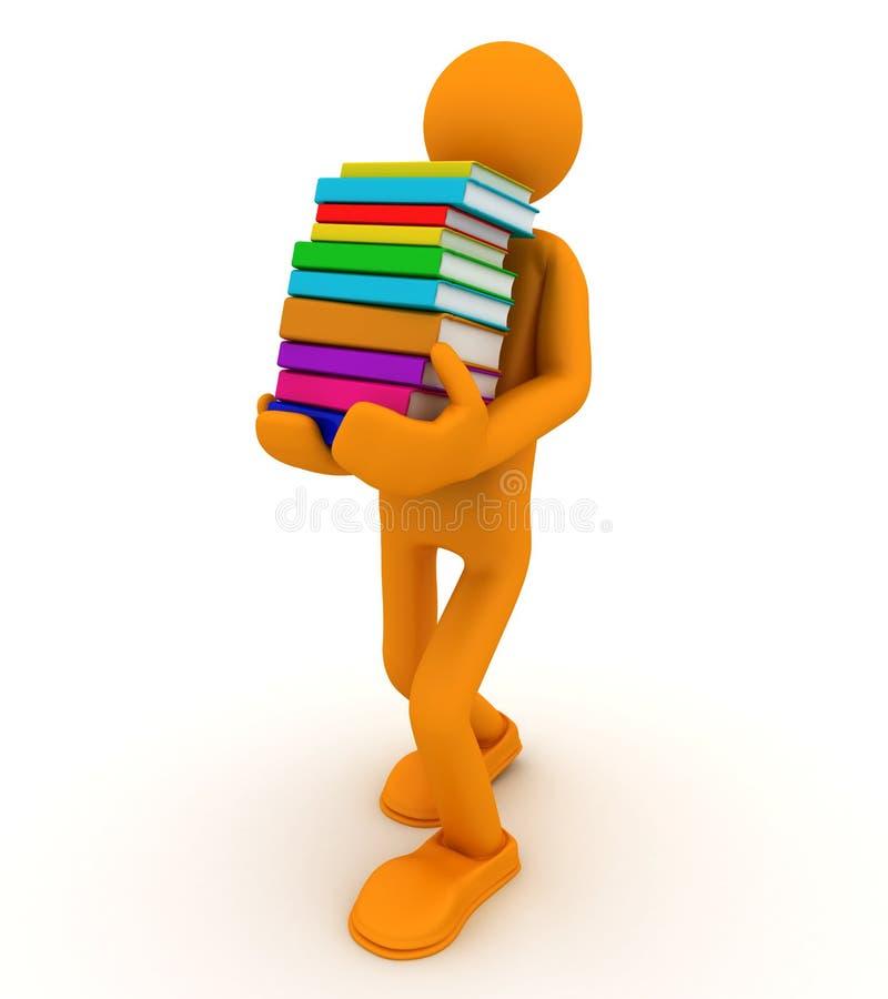 Lendo o livro ilustração do vetor