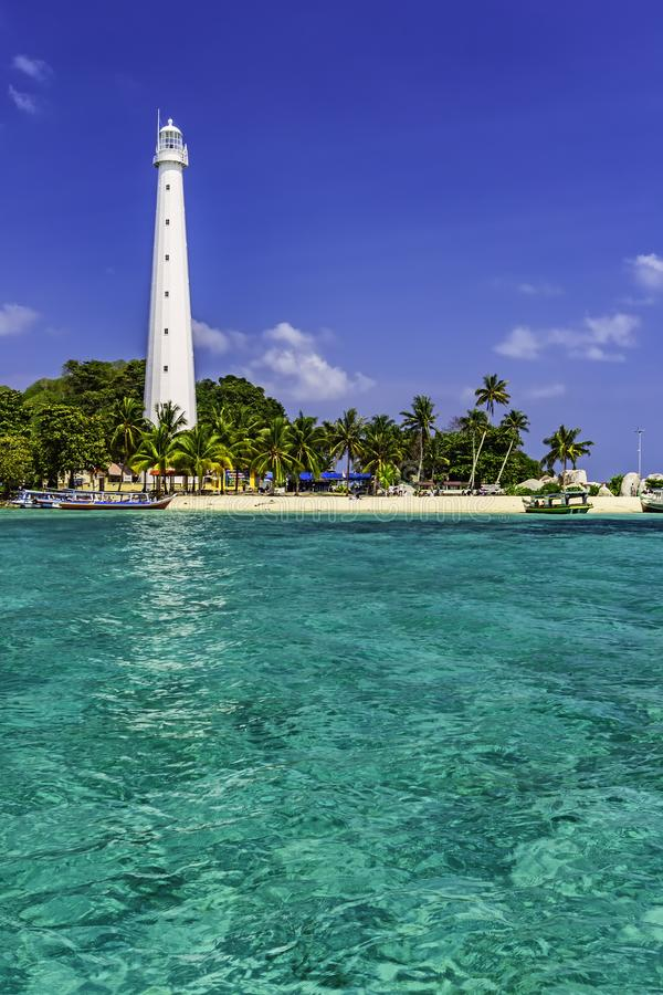 Lengkuas Island/Belitung-Indonesien royaltyfri foto