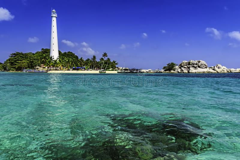 Lengkuas Island/Belitung-Indonesien arkivfoton