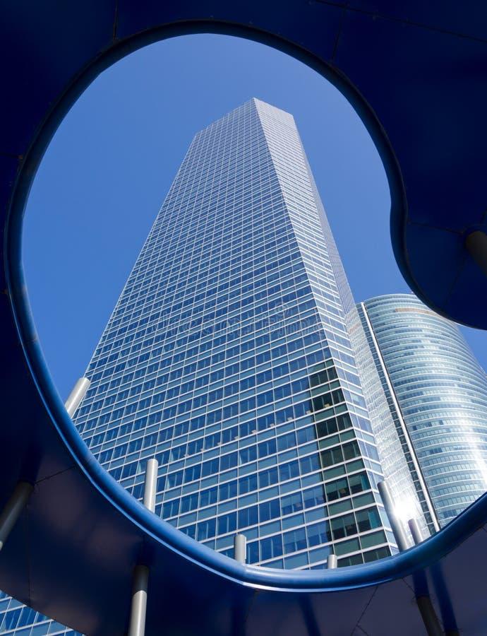 Length of skyscraper stock photography