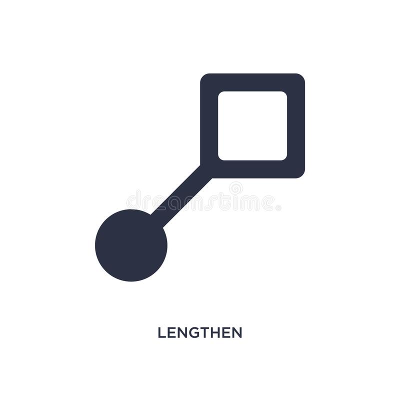 lengthen icon on white background. Simple element illustration from geometry concept royalty free illustration