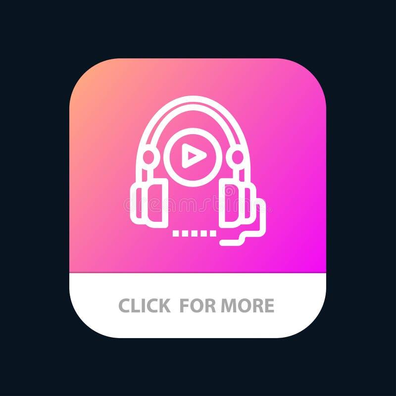 Lengua, curso, curso de idiomas, botón móvil del App de la educación Android y línea versión del IOS libre illustration
