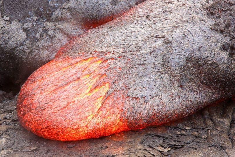 Lengua flúida de la lava imagen de archivo