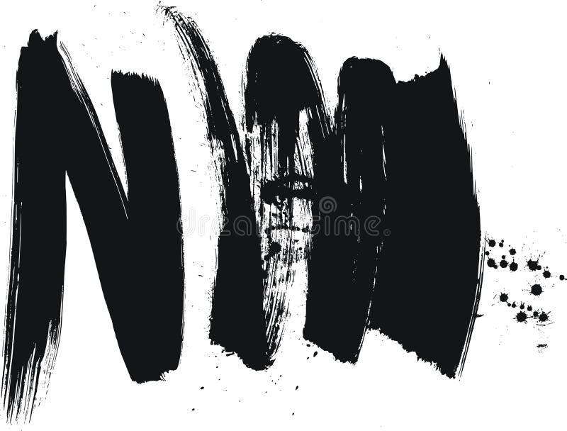 Lenguado del cepillo de pintura ilustración del vector