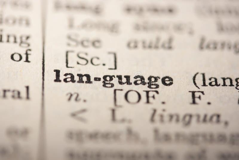 Lenguaje de palabra imagen de archivo libre de regalías