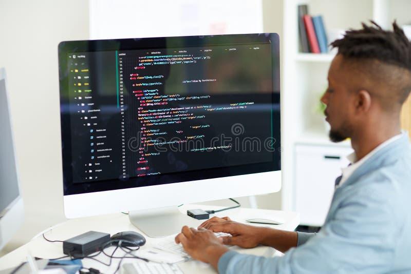 Lenguaje de programación de la codificación del promotor de web imagen de archivo