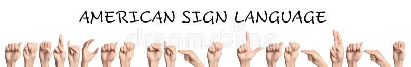 Lenguaje de signos americano de la frase de la demostración de la mujer fotos de archivo