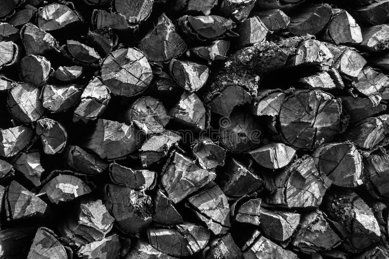 Lenha em preto e branco foto de stock royalty free