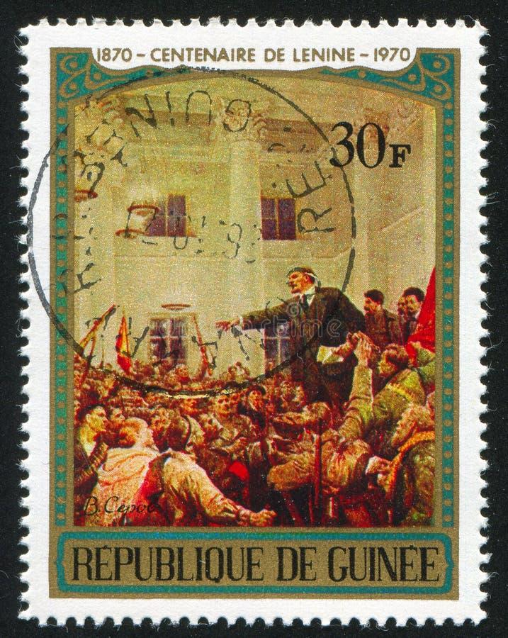 Lenin adresowania pracownicy obraz stock
