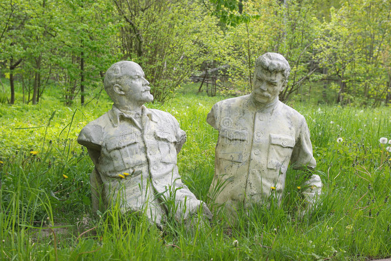 Lenin e Stalin foto de stock royalty free