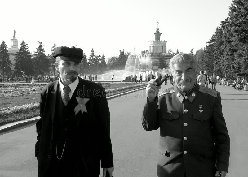 Lenin e Stalin fotografia de stock royalty free