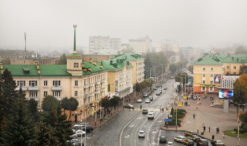 Lenin fyrkant i Baranovichi _ royaltyfria foton