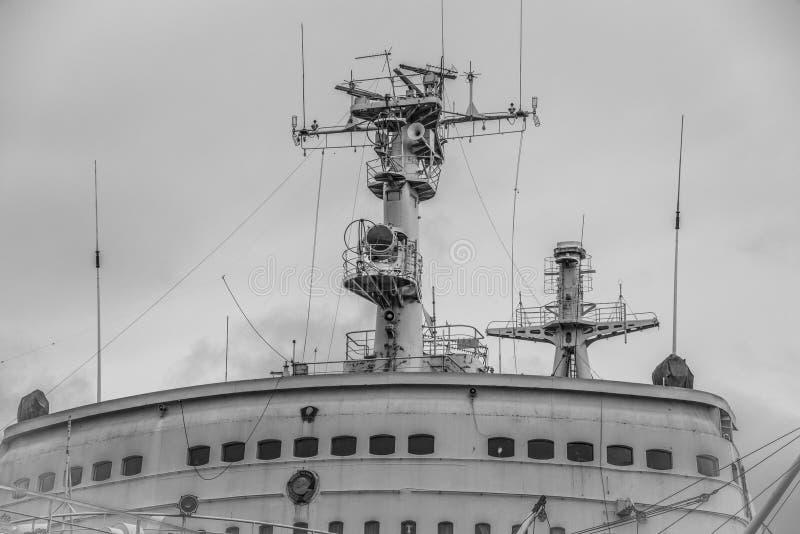 Lenin jest decommissioned Radzieckim wspomagany energią jądrową icebreaker fotografia royalty free