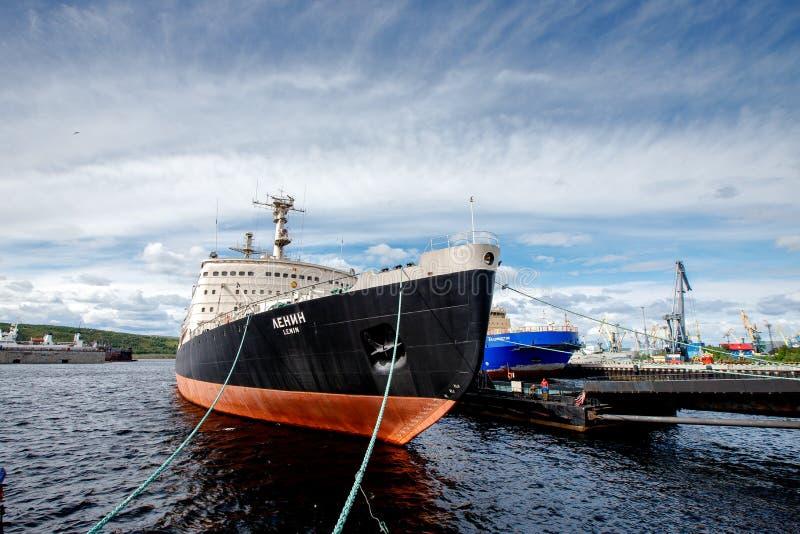 Lenin jest Radzieckim wspomagany energią jądrową icebreaker fotografia royalty free