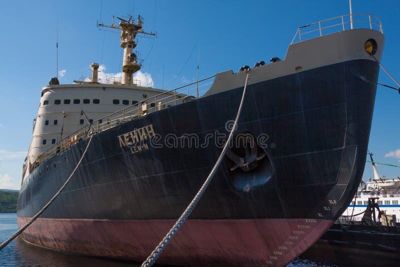 Lenin jest Radzieckim wspomagany energią jądrową icebreaker obrazy royalty free