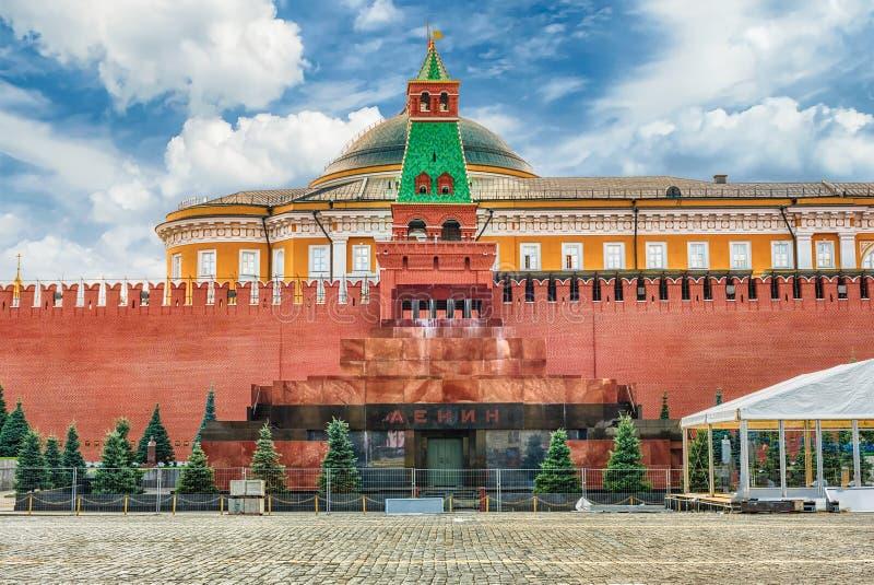Lenin mauzoleum, ikonowy punkt zwrotny w placu czerwonym, Moskwa, Rosja obraz royalty free