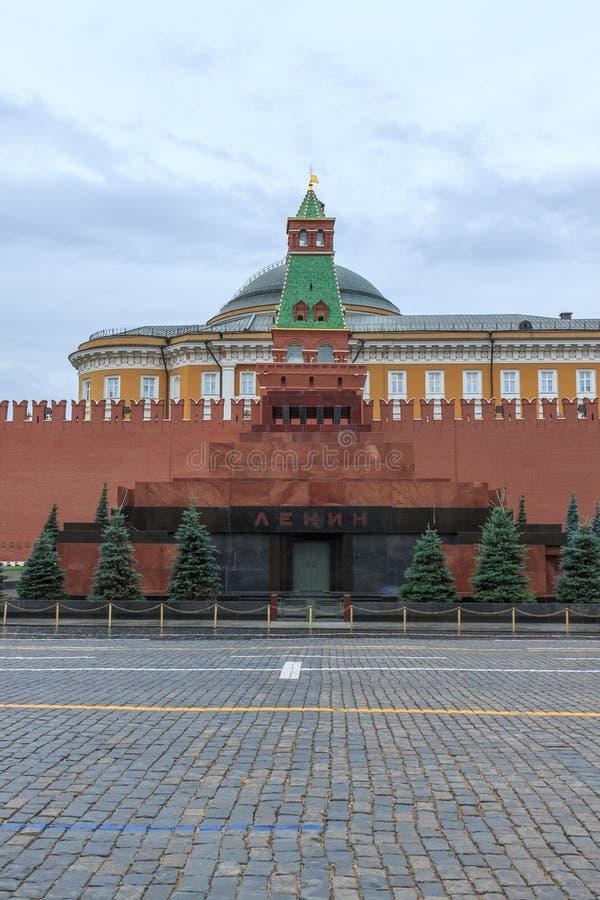 Lenin mauzoleum w placu czerwonym, Moskwa obraz stock