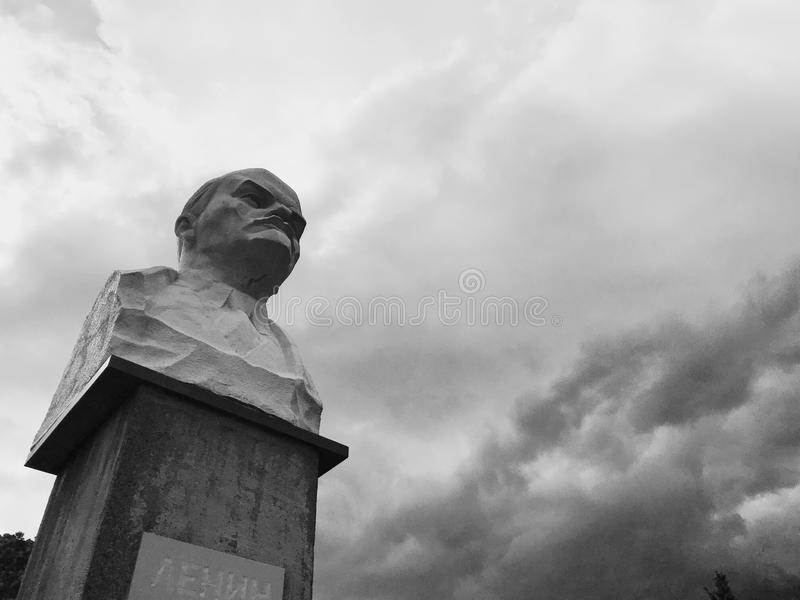 Lenin monument in Simeiz, town in Crimea royalty free stock photography