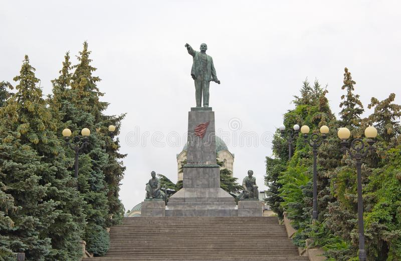 lenin monument till vladimir royaltyfria bilder