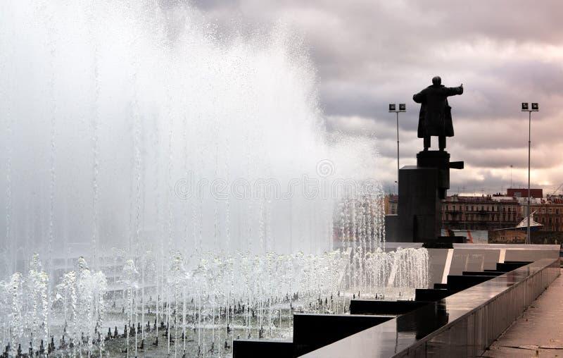 Lenin op de pantserwagen royalty-vrije stock afbeelding