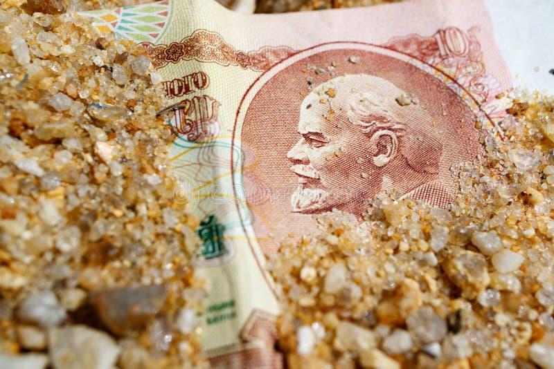 Lenin przedstawia na 10 rublach starzy Radzieccy czasy obraz royalty free