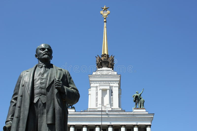 Download Lenin with Soviet star stock image. Image of architecture - 20008951
