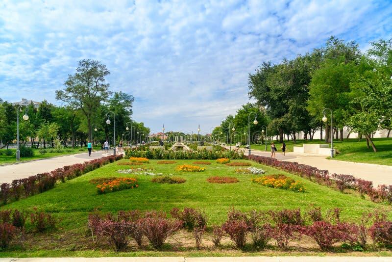 Lenin square in Astrakhan stock photos