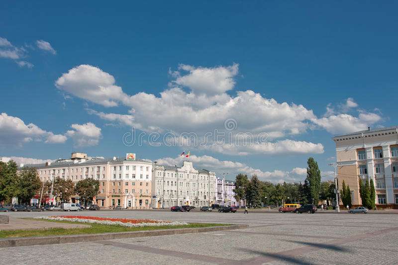 Lenin square. In Voronezh, Russia. Summer sketch royalty free stock photos