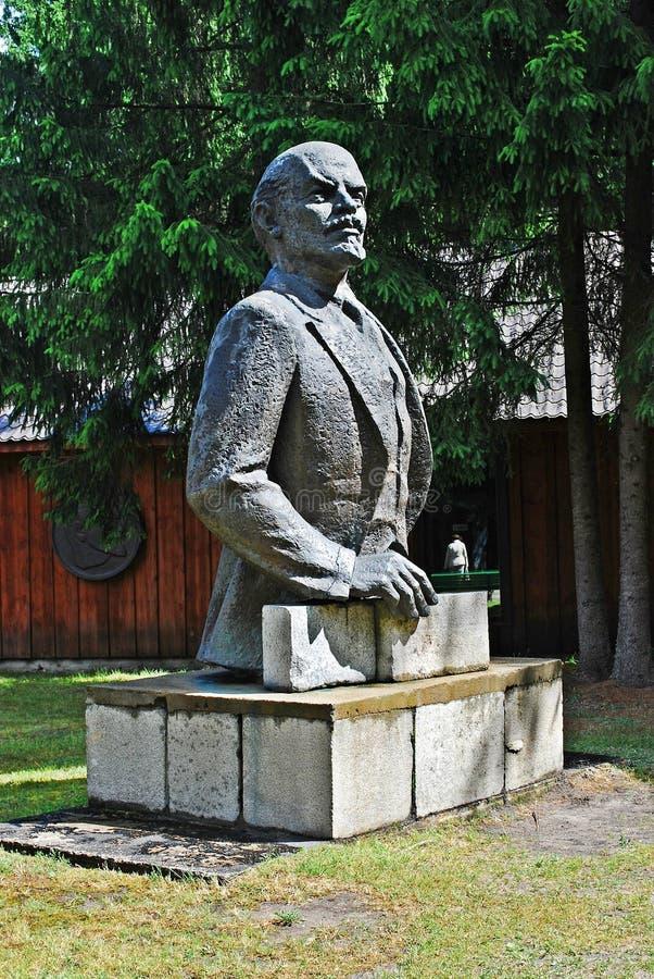 Lenine w Grutas parku blisko Druskininkai miasta zdjęcie stock