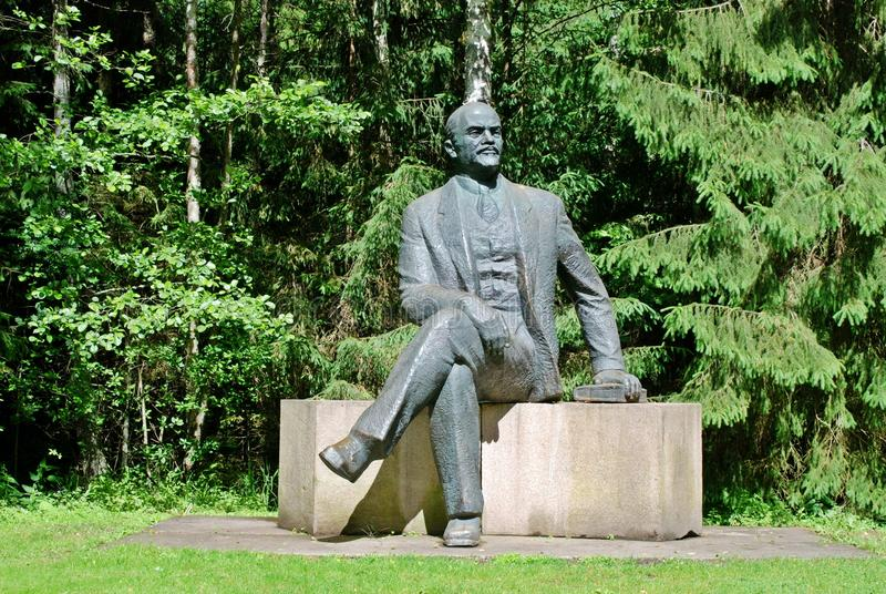 Lenine w Grutas parku blisko Druskininkai miasta obraz stock