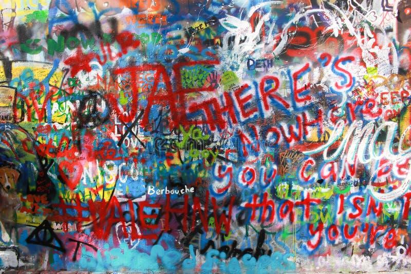 Lennon ściana w Prag fotografia stock