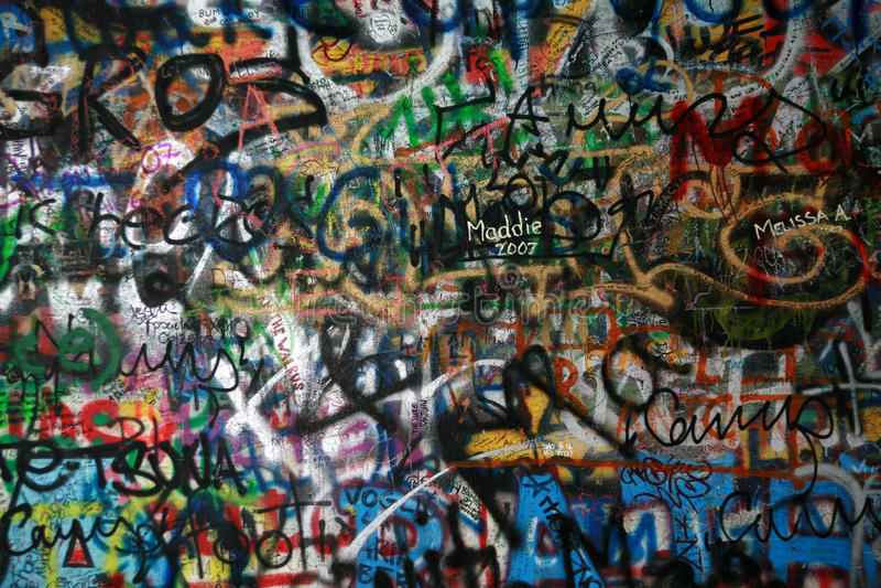 lennon τοίχος στοκ εικόνες με δικαίωμα ελεύθερης χρήσης