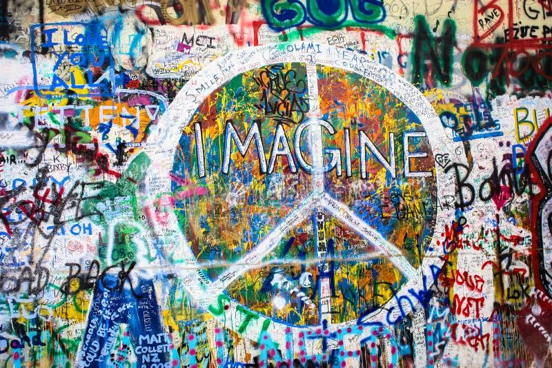 Lennon Wall photographie stock libre de droits