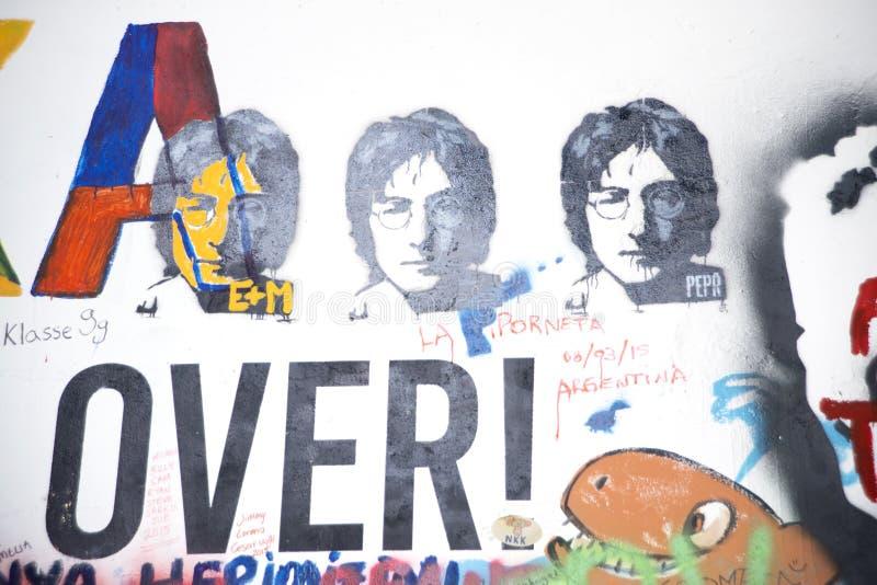 Lennon Wall illustrazione di stock