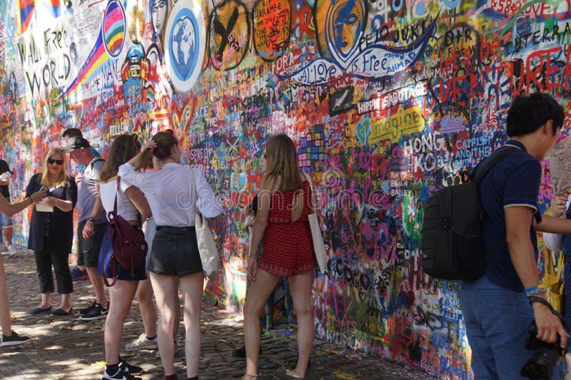 Lennon Wall Symbol Of Prague Resistance Editorial Image Image Of
