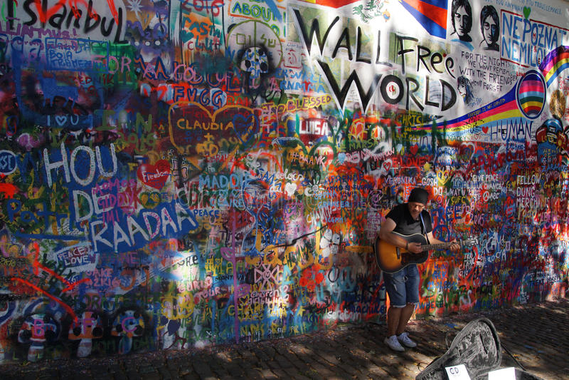 Lennon Wall Symbol Of Prague Resistance Editorial Stock Image